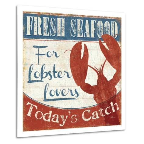 Fresh Seafood I-Pela Design-Metal Print