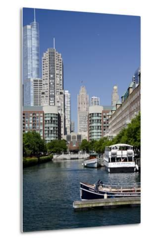 Canal View of the Chicago's Magnificent Mile City Skyline, Chicago, Illinois-Cindy Miller Hopkins-Metal Print