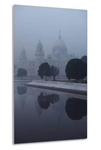 Victoria Memorial Is Enveloped in Ground Fog On a Cold Winter Morning in Calcutt-Steve Raymer-Metal Print