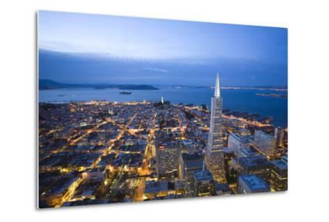 The View From the Lounge On the 52nd Floor of the U.S. Bank Tower-Susan Seubert-Metal Print