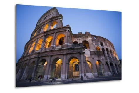 Lights in the Colosseum in the Evening-Matt Propert-Metal Print