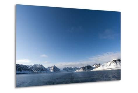 A Scenic View of Ice Covered Mountains Surrounding Magdalenefjorden-Sergio Pitamitz-Metal Print