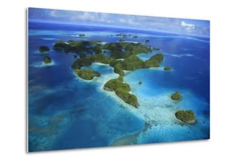 An Aerial Photo of Palau's Rock Islands-Stephen Alvarez-Metal Print