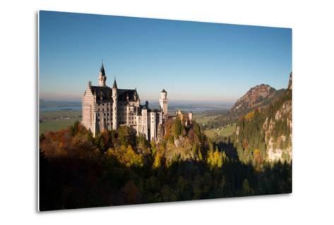 Neuschwanstein Castle in Autumn-Alex Saberi-Metal Print