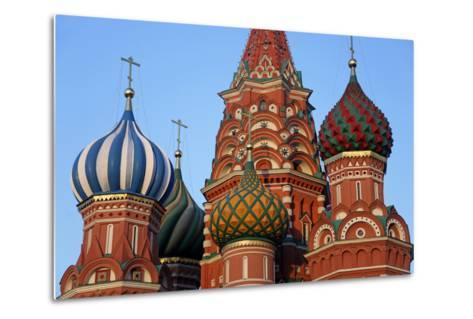 St. Basil's Cathedral in Red Square, Moscow, Russia-Kymri Wilt-Metal Print