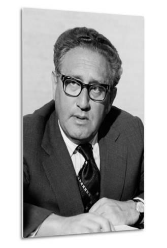 Henry Kissinger as Secretary of State in the Gerald Ford Administration. March 3 1976--Metal Print