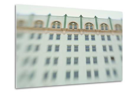 Surreal Shot of a 1920s Seafoam Green Art Deco Building-Jena Ardell-Metal Print