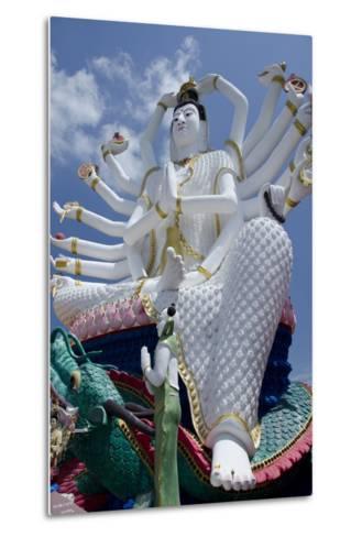 Giant Statue of Kwan Yin, Buddhist Goddess, Wat Plai Laem, Ko Samui, Thailand-Cindy Miller Hopkins-Metal Print