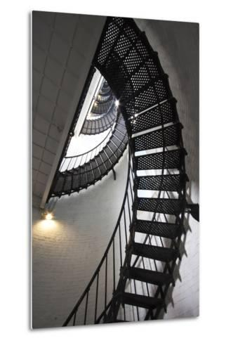 Stairs to the Top of the Saint Augustine Lighthouse, Florida, USA-Joanne Wells-Metal Print