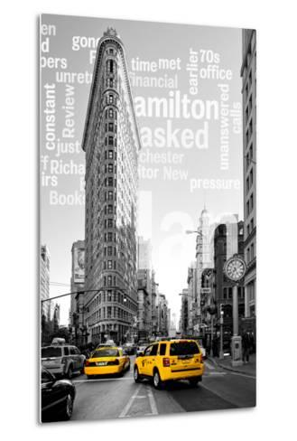 Flatiron Building - Taxi Cabs Yellow - Manhattan - New York City - United States-Philippe Hugonnard-Metal Print