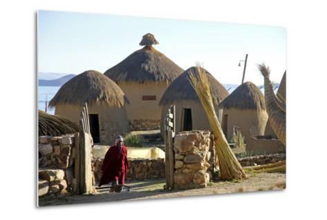 Andean Eco-Village Inca Utama, Lake Titicaca, Huatajata, Bolivia-Kymri Wilt-Metal Print