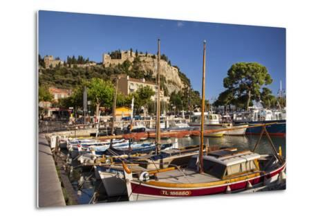 Sailboats in the Harbor of Cassis, Bouches-Du-Rhone, Provence, France-Brian Jannsen-Metal Print