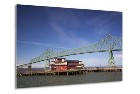 Astoria-Melger Bridge, Cannery Pier Hotel on the Columbia River, Astoria, Oregon, USA-Jamie & Judy Wild-Metal Print