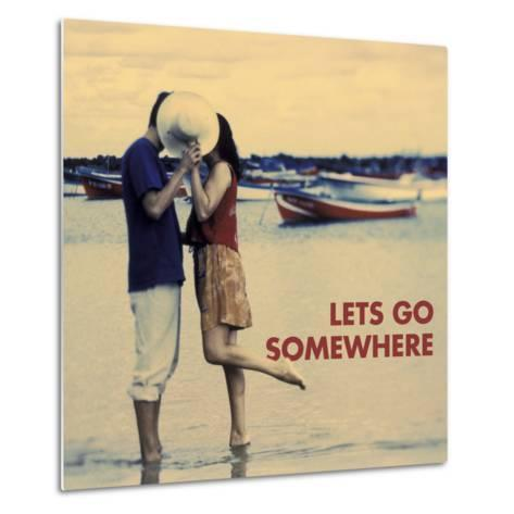 Let's Go Somewhere-Michele Westmorland-Metal Print