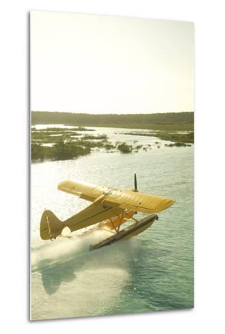 A PA18 Super Cub Floatplane at Conception Island-Jad Davenport-Metal Print