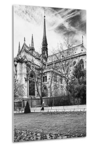 A nun - Notre Dame Cathedral - Paris - France-Philippe Hugonnard-Metal Print