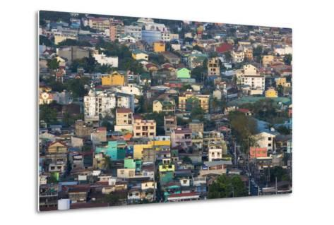 Aerial View of Colorful Houses, Manila, Philippines-Keren Su-Metal Print