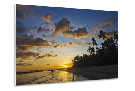 Sunset View of the Beach, Bohol Island, Philippines-Keren Su-Metal Print