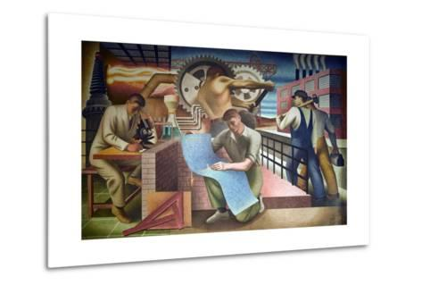 Wpa Mural. Mural by Charles Klauder Ca, 1940. Located in the Cohen Building Washington D.C--Metal Print