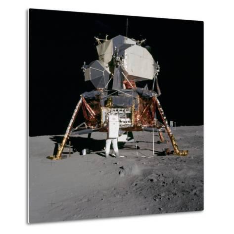 Apollo 11 Lunar Module on the Moon's Surface, July 20, 1969--Metal Print