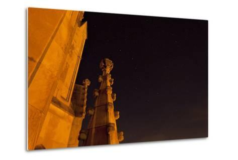 The Spires of Shapard Tower Against a Starry Night Sky-Stephen Alvarez-Metal Print