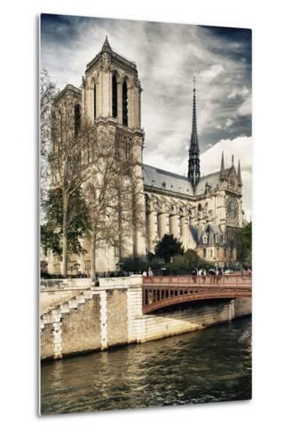 Notre Dame Cathedral - Paris - France-Philippe Hugonnard-Metal Print