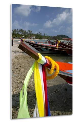Fishing Boats in the Gulf of Thailand on the Island of Ko Samui, Thailand-David R^ Frazier-Metal Print