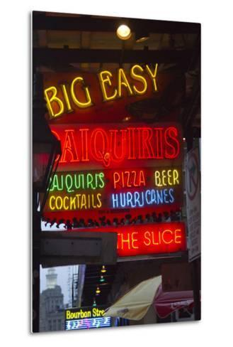 Neon Signs on Bourbon Street, French Quarter, New Orleans, Louisiana, USA-Jamie & Judy Wild-Metal Print