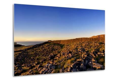 Dun Aengus Fort on the Aran Islands, West Coast of Ireland-Chris Hill-Metal Print