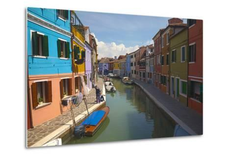Bright Colored Homes Along the Canal, Burano, Italy-Terry Eggers-Metal Print