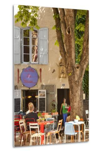 Outdoor Cafe in the Town of Saint Remy De-Provence, France-Brian Jannsen-Metal Print