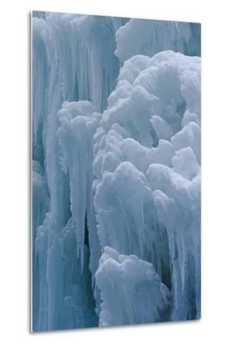 Winter Ice, Partnachklamm (Partnach Creek Gorge), Bavaria, Germany-Martin Zwick-Metal Print