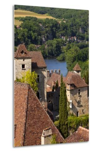 Saint-Cirq-Lapopie in the Lot Valley, Midi-Pyrenees, France-Brian Jannsen-Metal Print