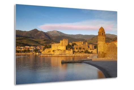 Dawn over Town of Collioure, Pyrenees-Orientales, Languedoc-Roussillon, France-Brian Jannsen-Metal Print