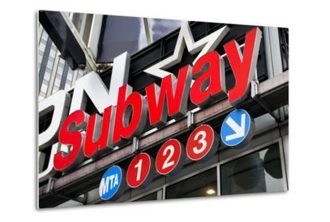 Subway Stations - Manhattan - New York City - United States-Philippe Hugonnard-Metal Print