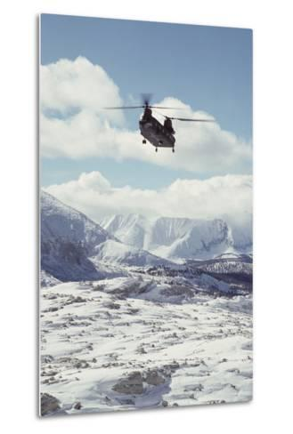 Chinook Search and Rescue Helicopter, Sequoia and Kings Canyon, California, USA-Gerry Reynolds-Metal Print