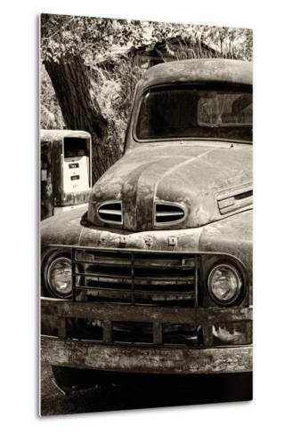 Cars - Ford - Route 66 - Gas Station - Arizona - United States-Philippe Hugonnard-Metal Print