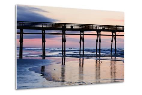 Sunset Beach Pier at Sunrise, North Carolina, USA--Metal Print