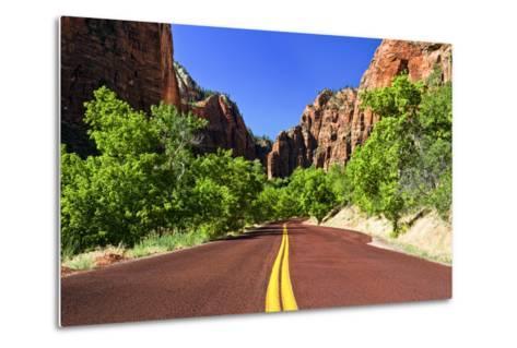 Scenic Drive - Zion National Park - Utah - United States-Philippe Hugonnard-Metal Print