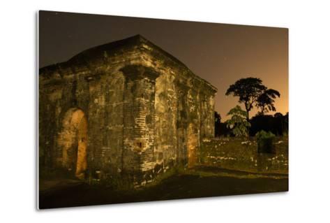 Fort San Lorenzo Under a Starry Night Sky in Panama-Jonathan Kingston-Metal Print