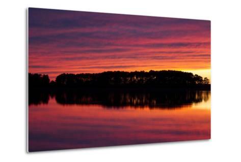 A Colorful Evening Sky over the Chesapeake Shoreline Near Kent Island-Skip Brown-Metal Print