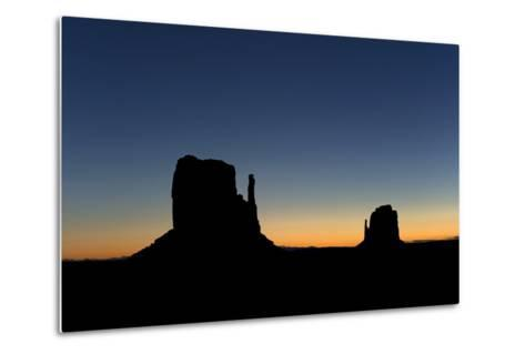 Silhouetted Rock Formations at Dawn-Norbert Rosing-Metal Print