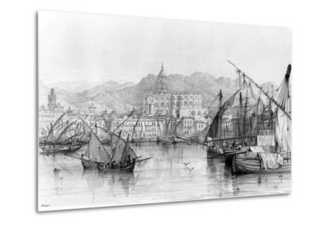 View of Malaga, from 'spanish Scenery' by George Vivian, Published 1838--Metal Print