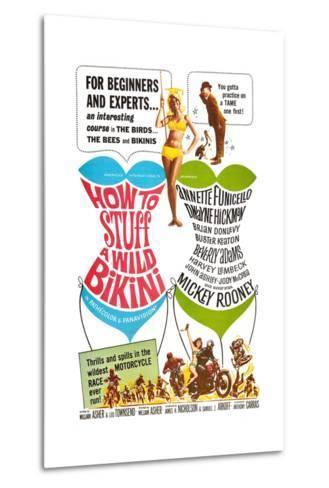 How to Stuff a Wild Bikini, Mary Hughes; Mickey Rooney, 1965--Metal Print