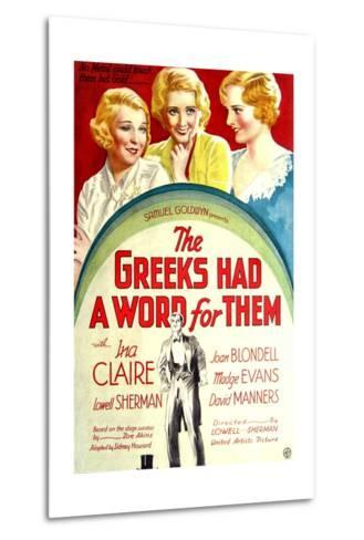 THE GREEKS HAD A WORD FOR THEM, from left: Ina Claire, Joan Blondell, Madge Evans, 1932--Metal Print