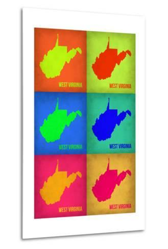 West Virginia Pop Art Map 1-NaxArt-Metal Print
