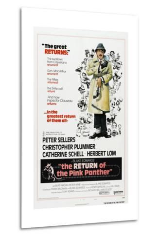The Return of the Pink Panther, US poster, Peter Sellers, 1975--Metal Print