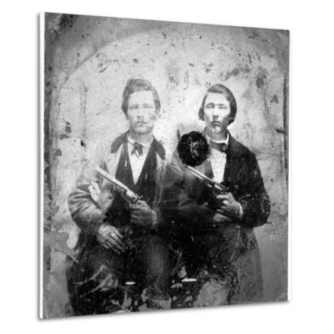 Jesse and Frank James, C.1866-76--Metal Print