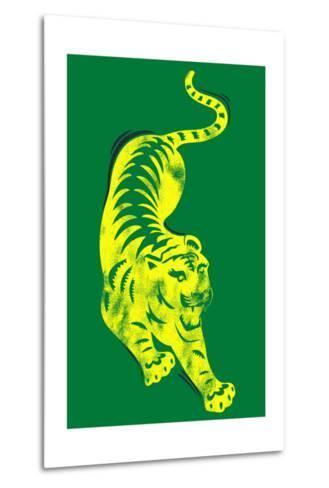 Pouncing Tiger--Metal Print