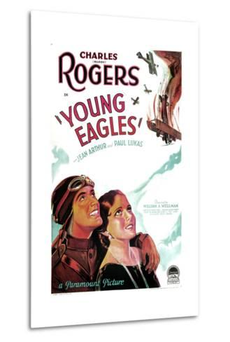 YOUNG EAGLES, US poster art, from left: Charles 'Buddy' Rogers, Jean Arthur, 1930--Metal Print